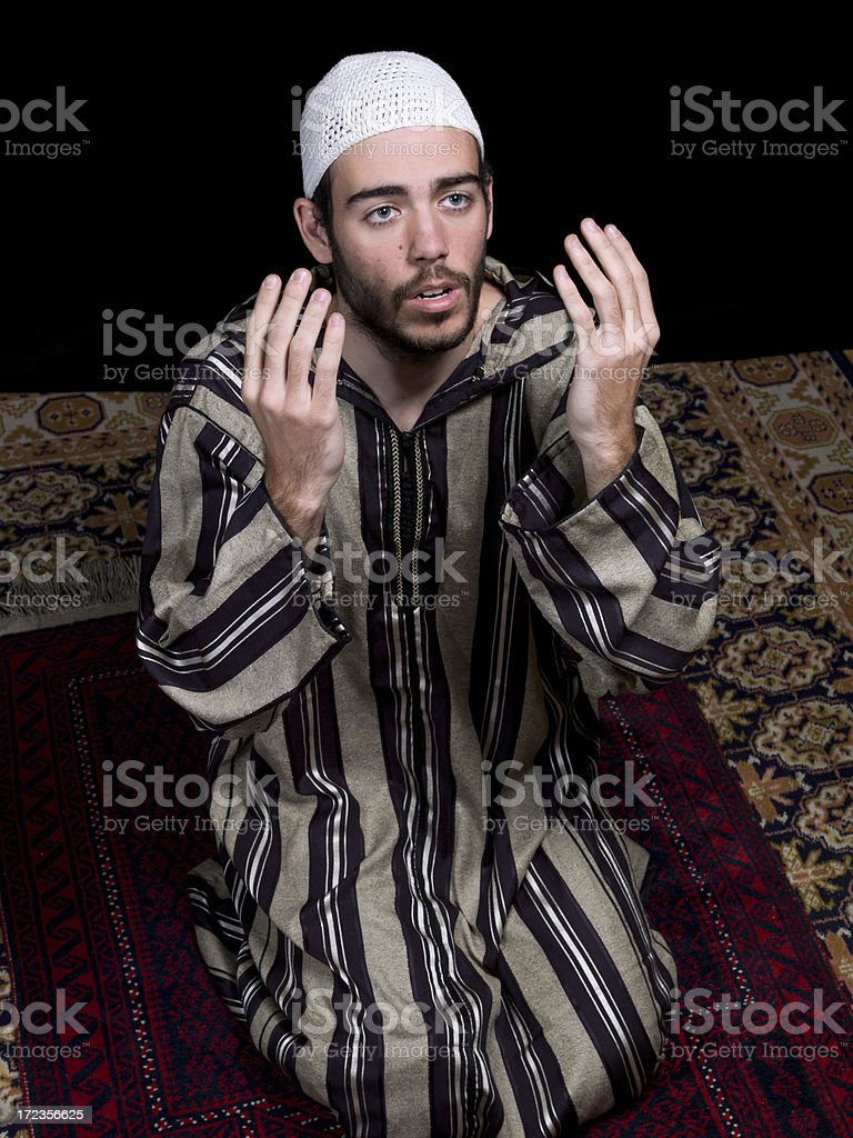 Muslim man praying royalty-free stock photo