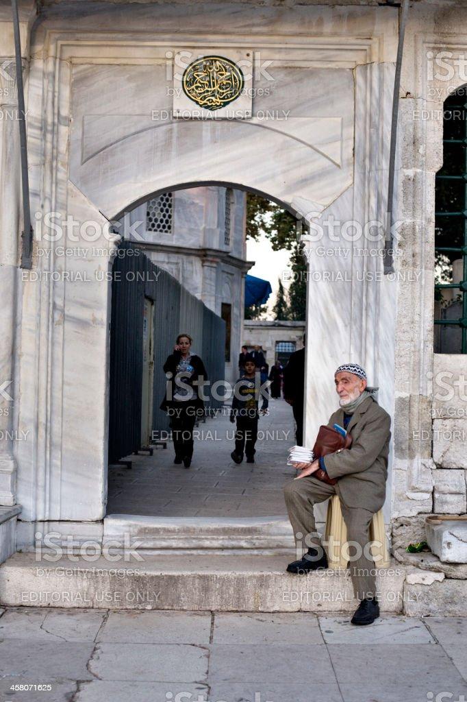 Muslim Man With Books stock photo