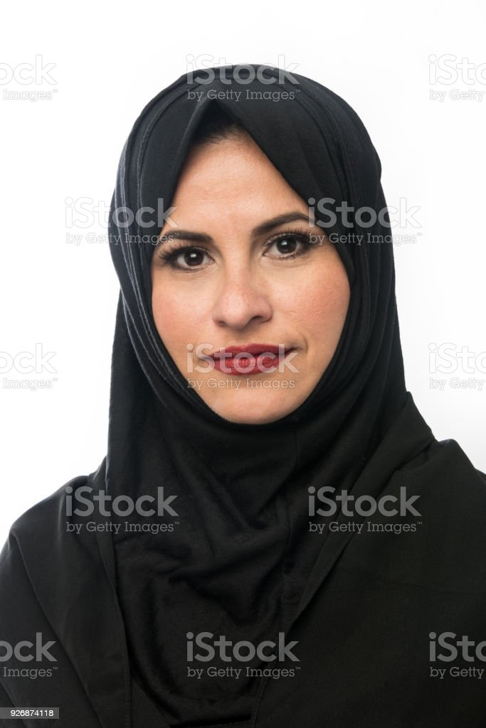 Muslim Mature Woman stock photo