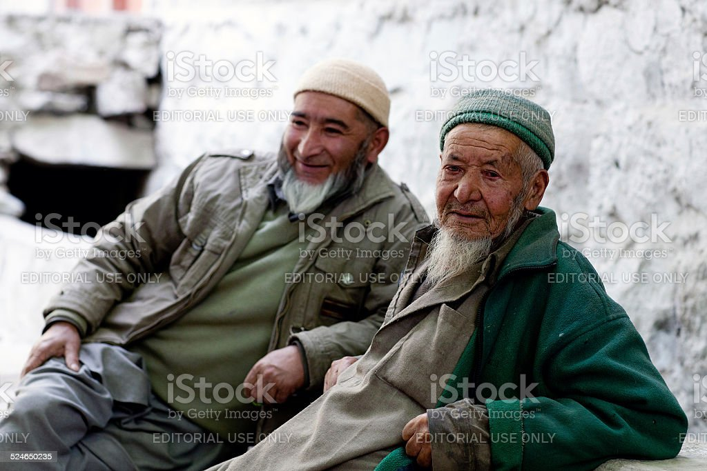 Muslim men, India stock photo
