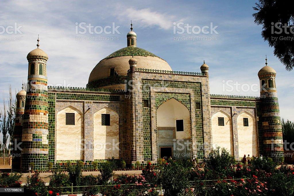 Muslim mosque in Xinjiang, China royalty-free stock photo