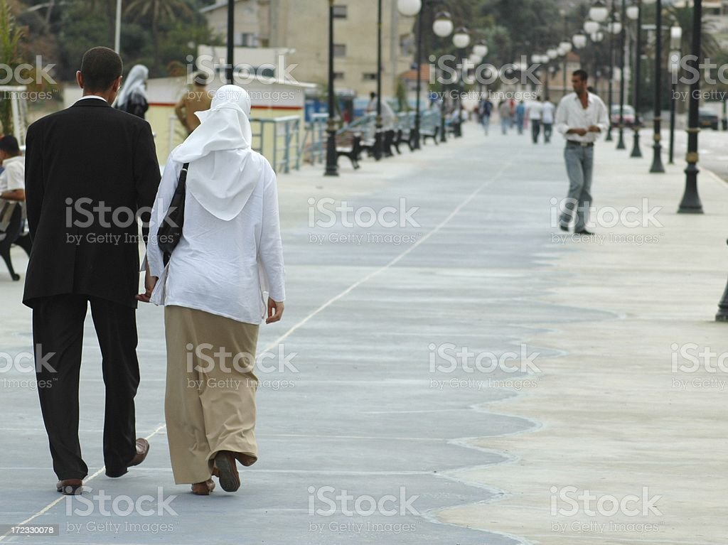 Muslim Night On The Town royalty-free stock photo
