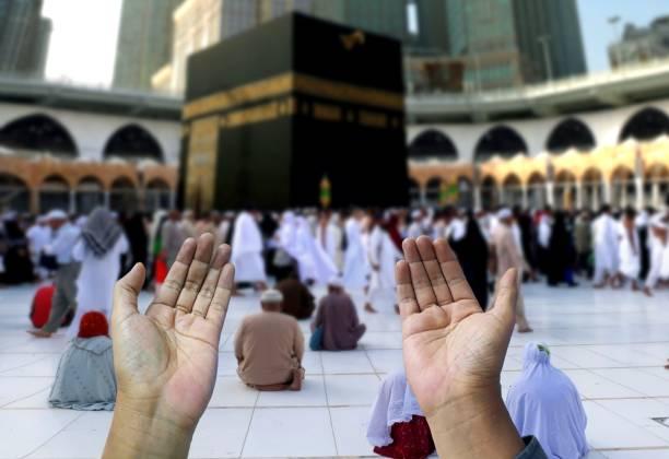 Muslim of islam praying hands Muslim of islam praying hands umrah stock pictures, royalty-free photos & images