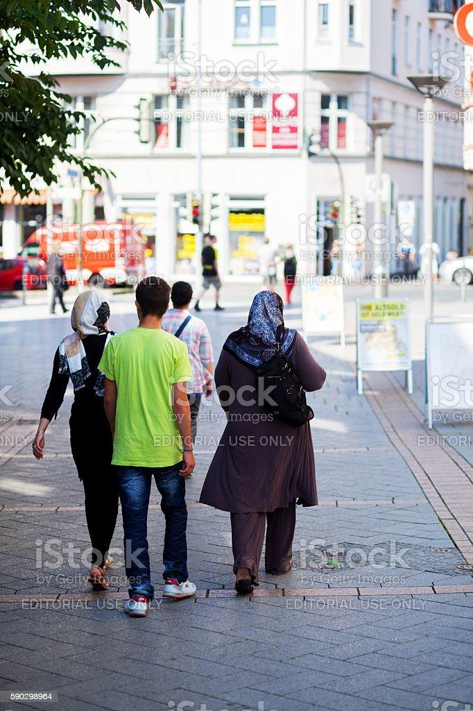 Muslim people in Iserlohn royaltyfri bildbanksbilder