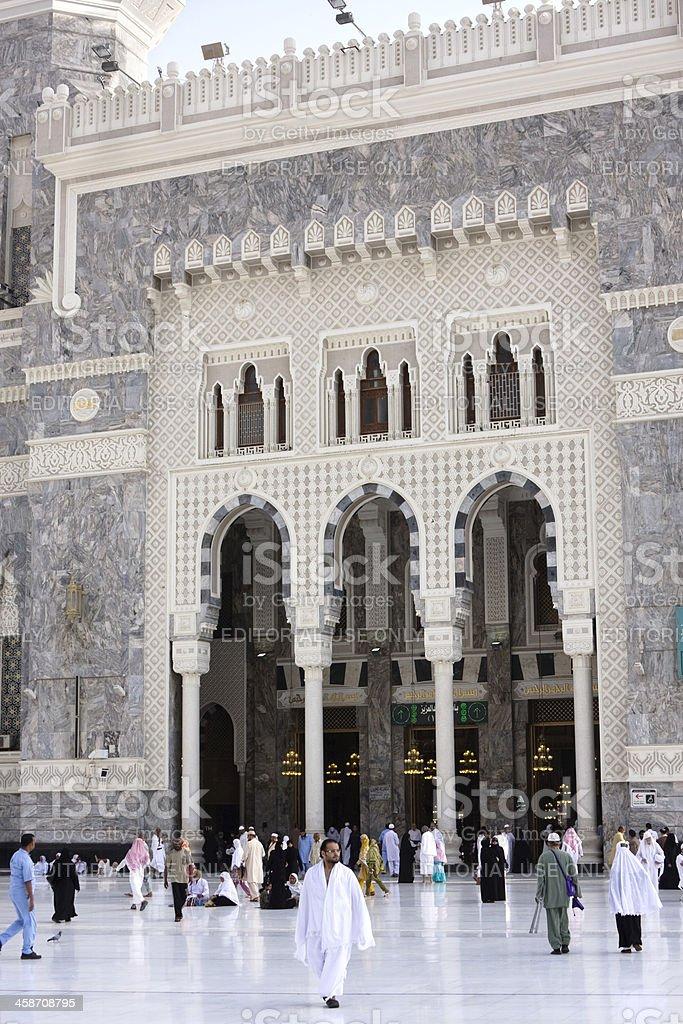 Muslim pilgrims at the Masjid al-Haram, Mecca, Saudi Arabia royalty-free stock photo