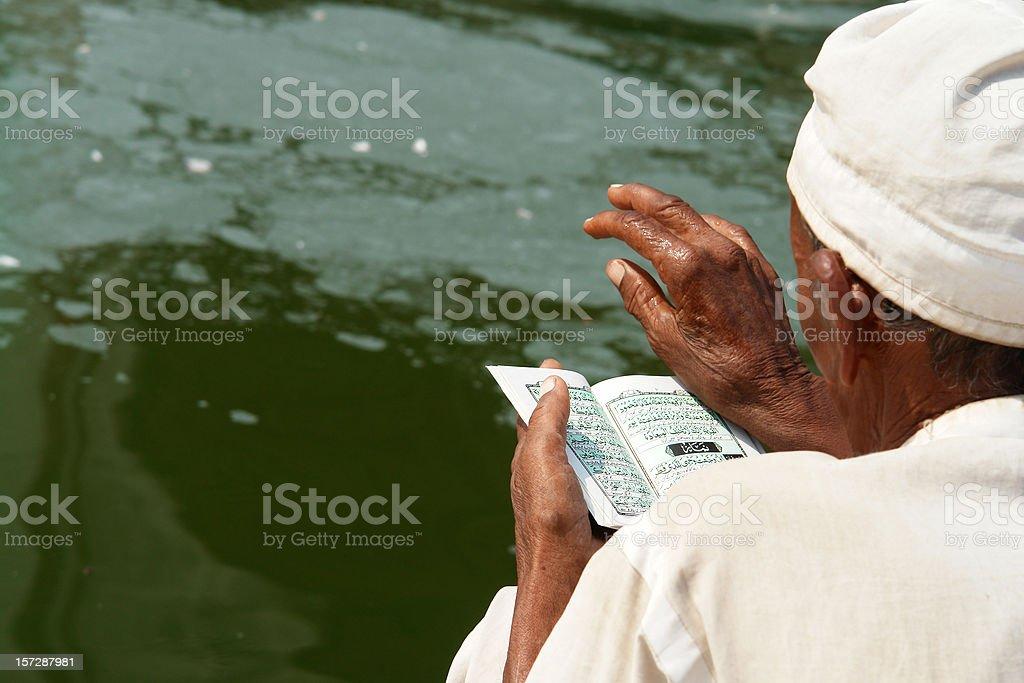 Muslim Readig Koran royalty-free stock photo