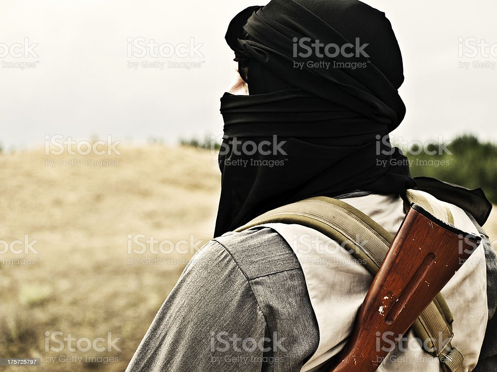 Muslim rebel stock photo