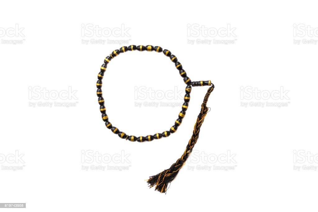 muslim rosary o white background stock photo
