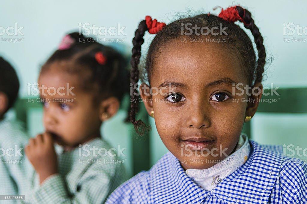 Muslim schoolgirl in Southern Egypt royalty-free stock photo