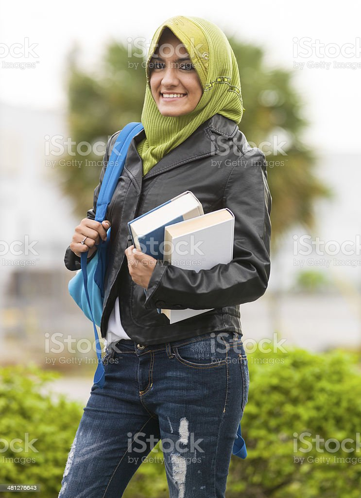 Muslim Student royalty-free stock photo