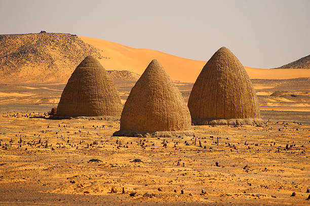 muslim tombs, old dongola, sudan - sudan stock photos and pictures