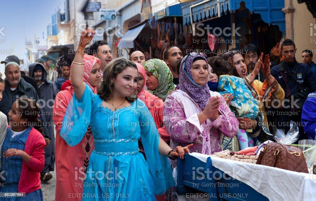 Muslim wedding, Morocco stock photo