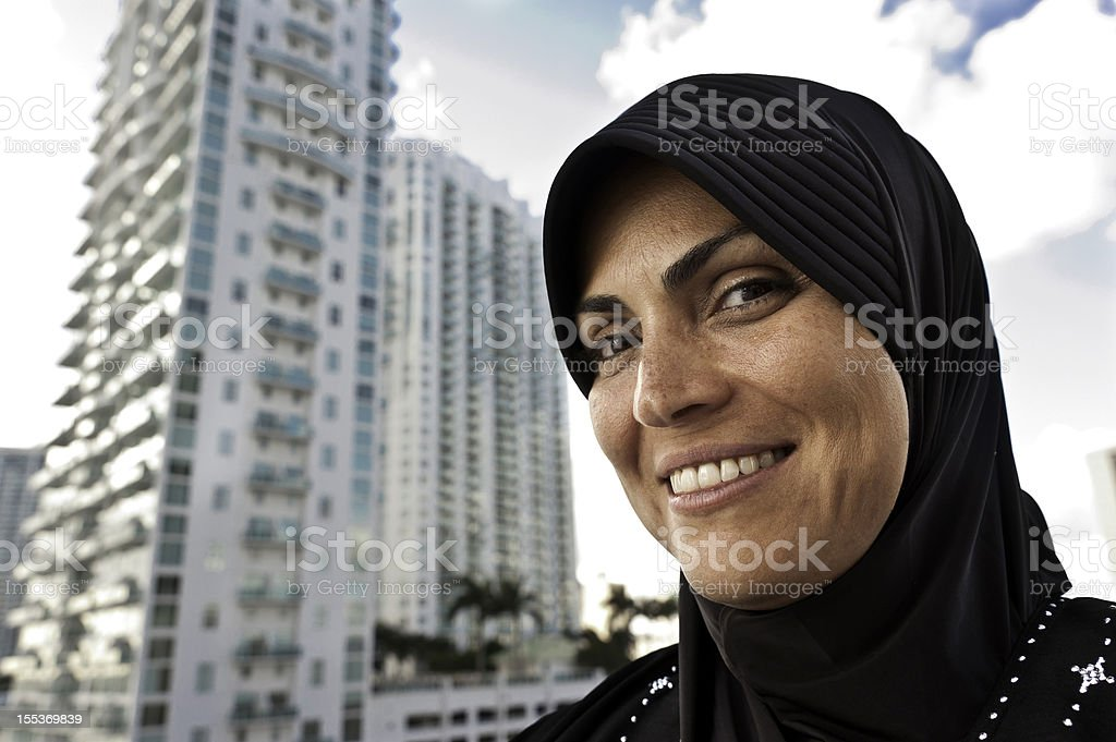 Muslim Woman at the City royalty-free stock photo