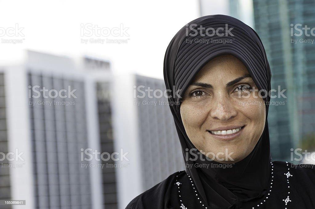 Muslim Woman at the City royalty-free stock photo