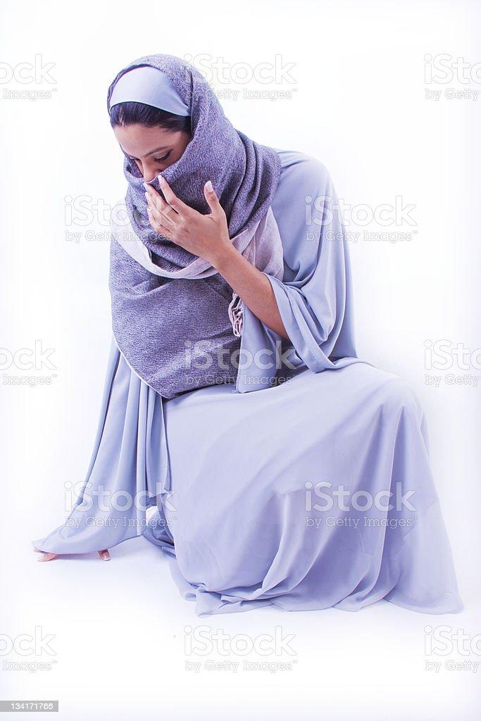 Muslim Woman in Studio stock photo