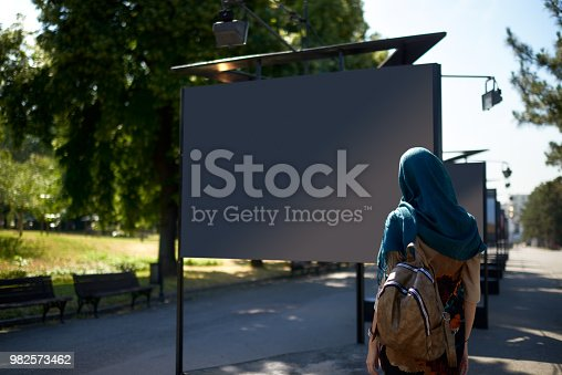 istock Muslim woman in the city 982573462