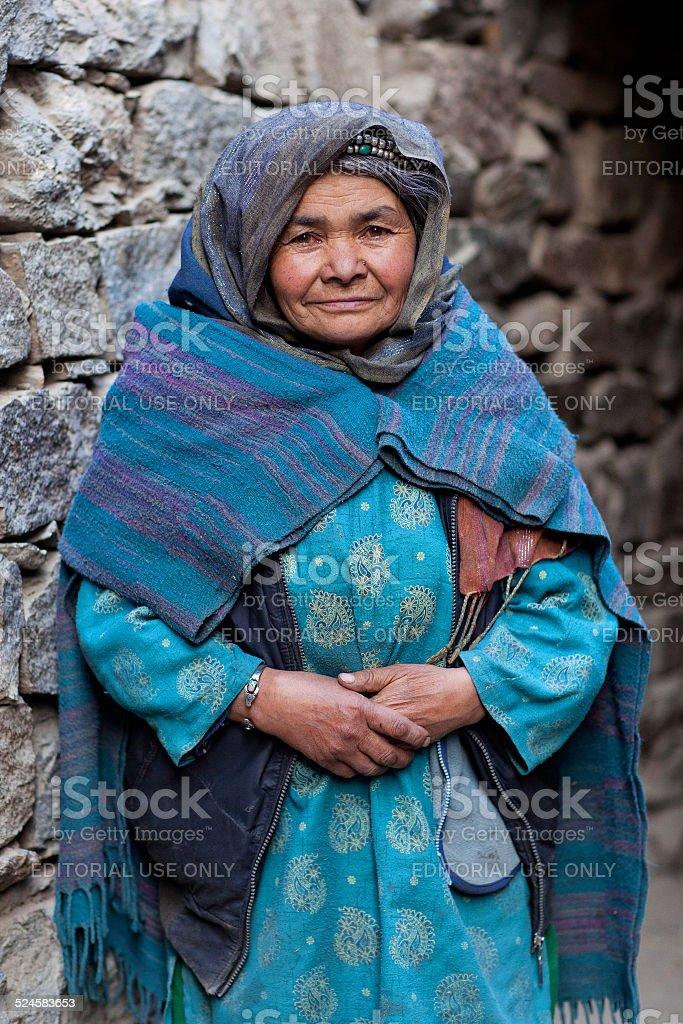 Muslim woman, India stock photo