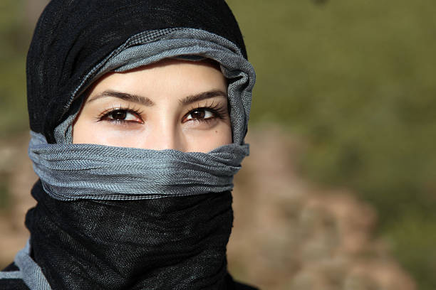 muslim woman stock photo