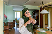 istock Muslim Woman with Skin Allergy 1192275904