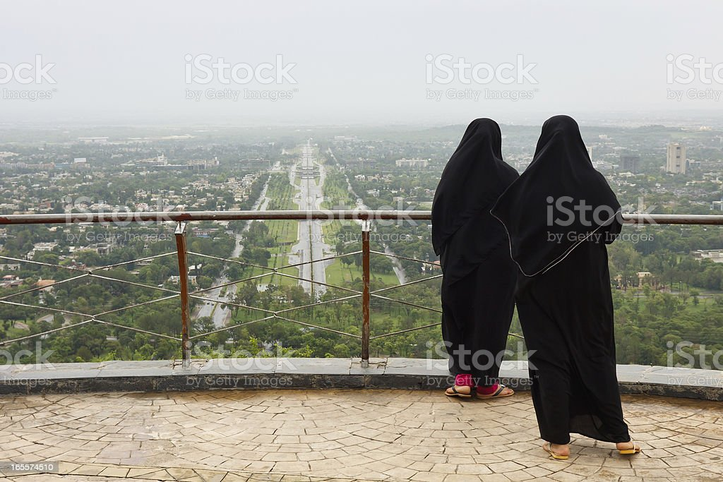 Muslim Women with Burqa stock photo