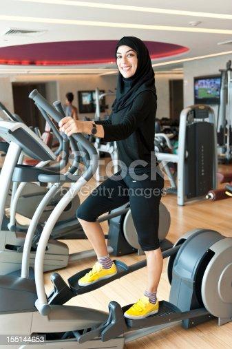 istock Muslim Young Woman Exercising 155144653