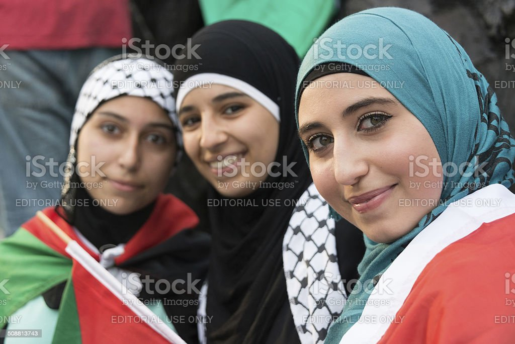 Muslim Young Women stock photo