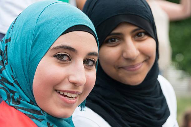 Muslim Young Women stock photo