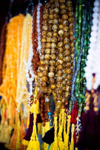 Muslims rosary bead stock photo