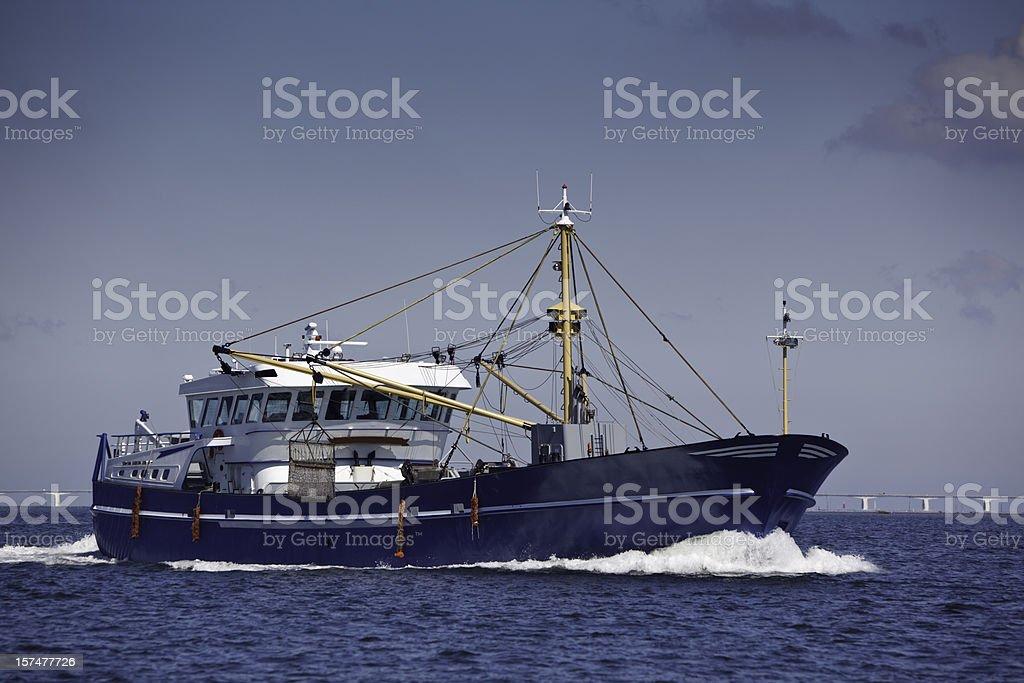 Mussel Trawler stock photo