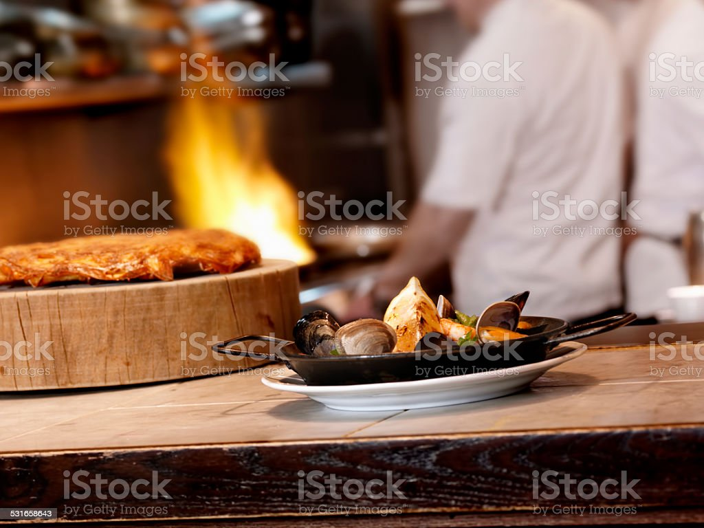Mussels and Clams stock photo