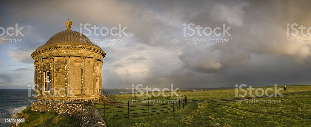 Mussenden Temple landscape stock photo