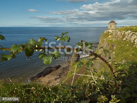 Mussenden Temple sits dangerously near the edge of the cliffs