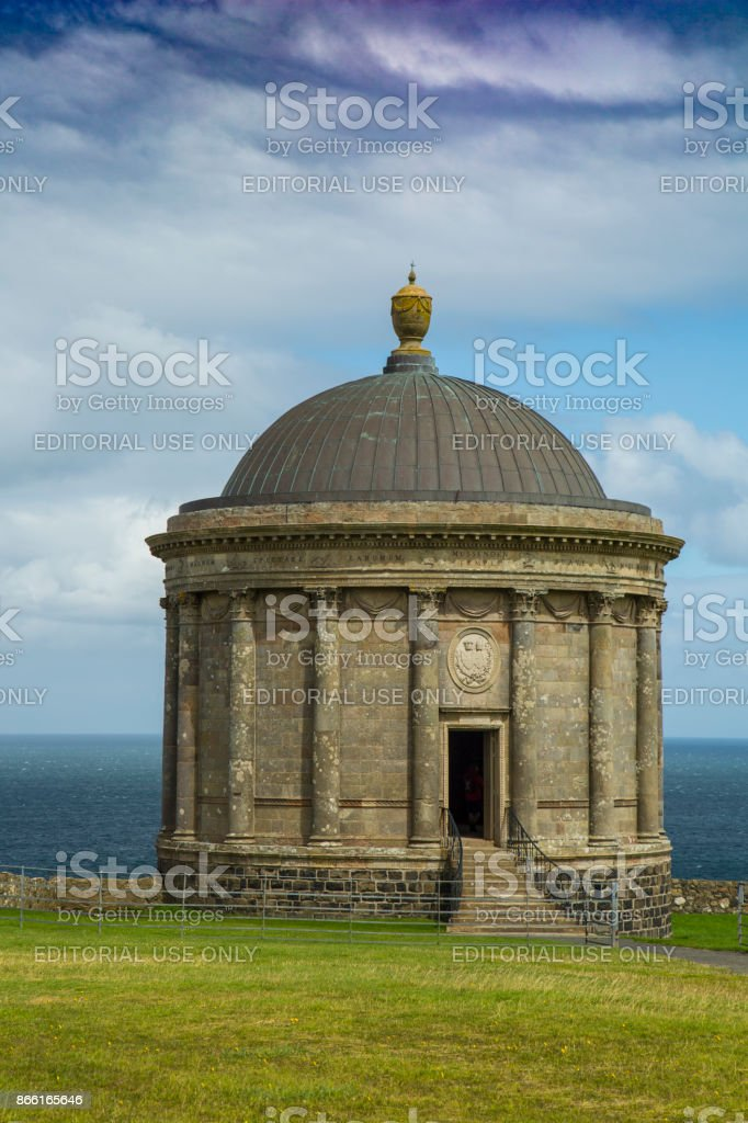 Mussenden Temple North Ireland stock photo