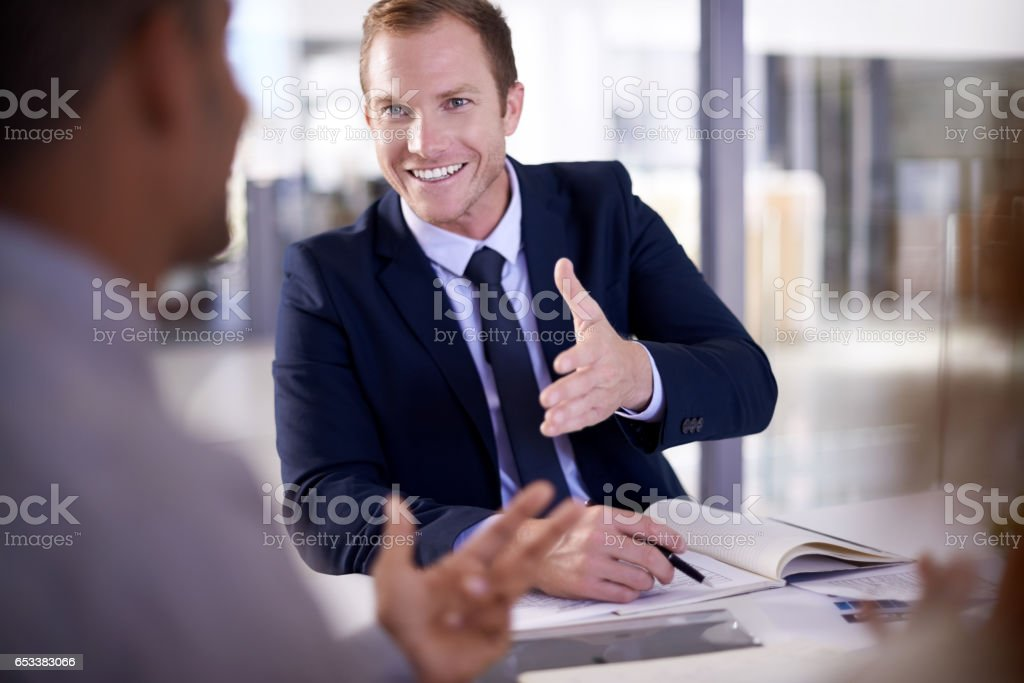 I must congratulate you on your success stock photo