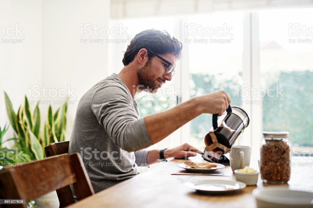 Must have coffee for the day ahead stock photo