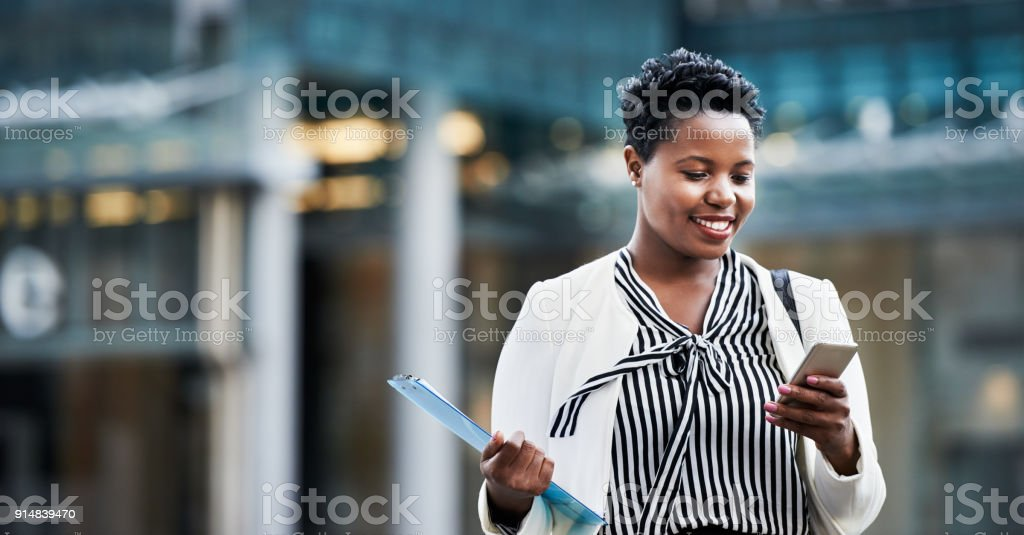 Must have tech for business on the move stock photo