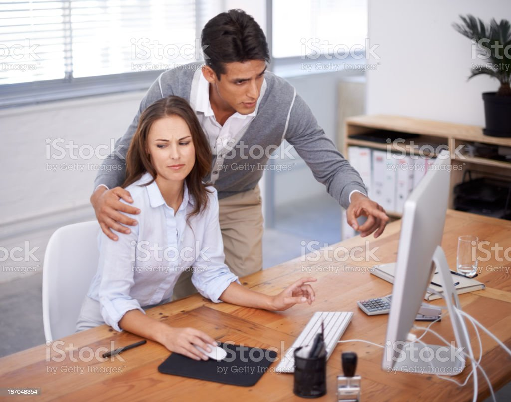 Must his hand be there? stock photo