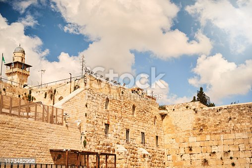 Shot of The Western Wall in Jerusalem