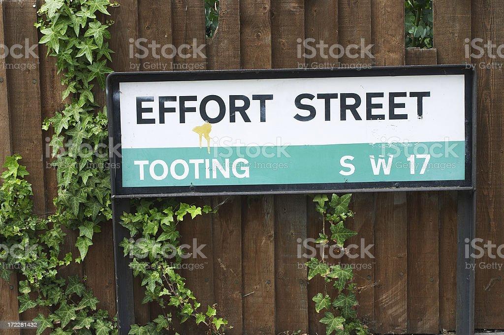Effort Street destination for business team stock photo