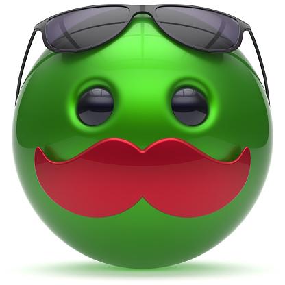 istock Mustache face emoticon ball happy joyful cartoon fun person 517703372