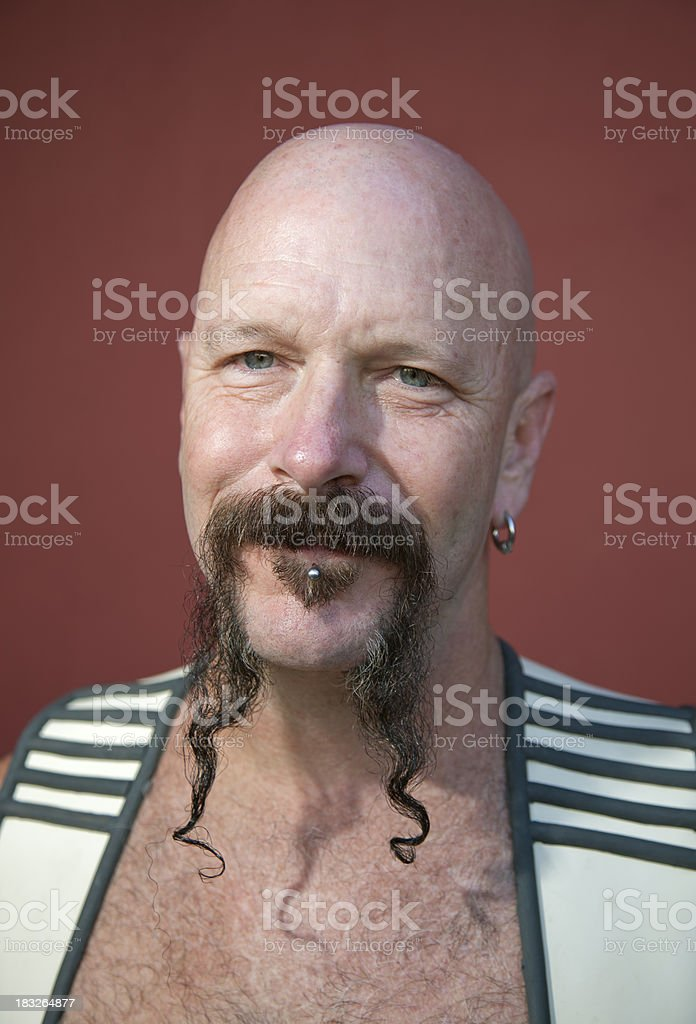 Mustache Man Portrait stock photo