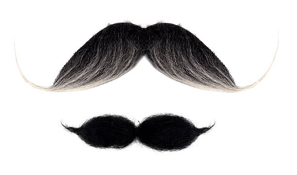 Mustaches on white Isolated mustaches mustache stock pictures, royalty-free photos & images