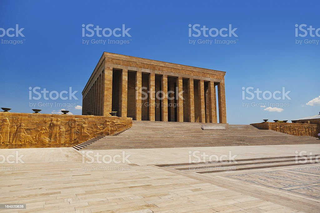 Mustafa Kemal Ataturk mausoleo en Ankara, Turquía - foto de stock