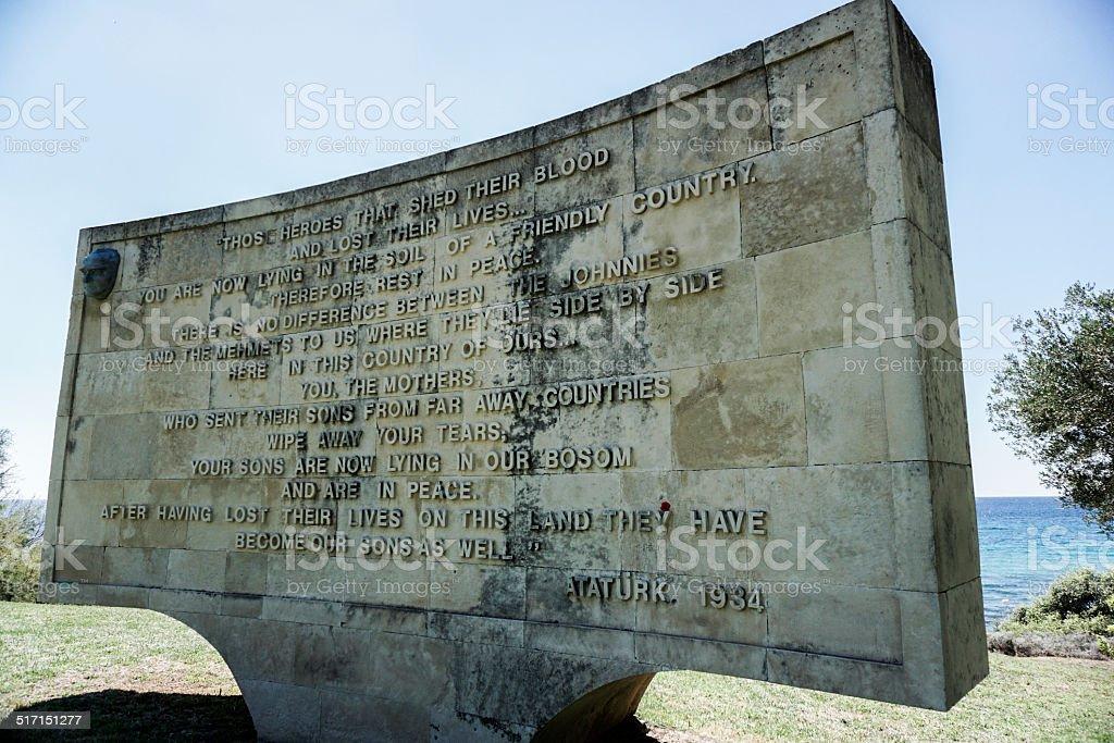 Mustafa Kemal Atatürk Memorial de Gallipoli-Italie - Photo