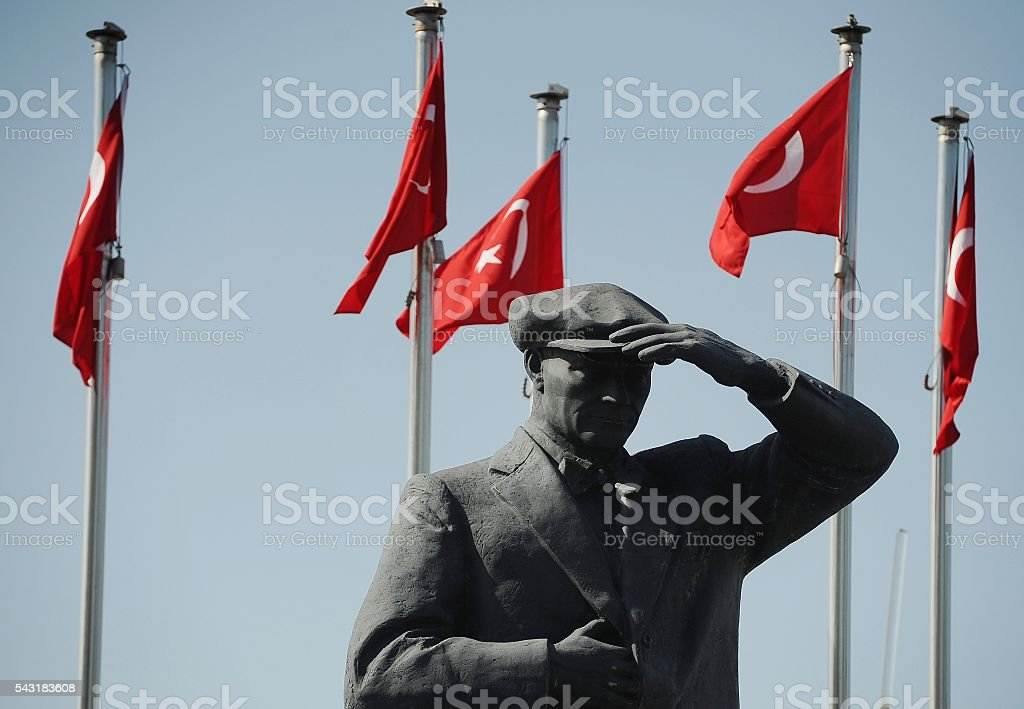 Mustafa Kemal Ataturk Monument stock photo