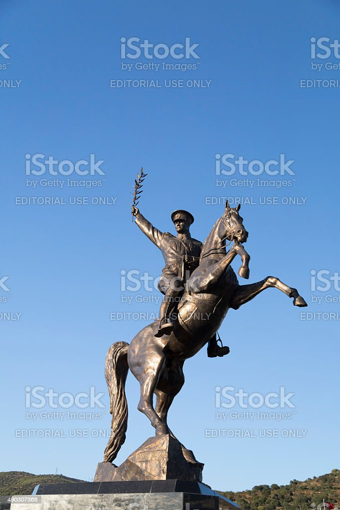 Mustafa Kemal Ataturk Statue, Bodrum, Turkey stock photo