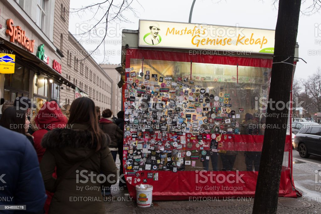 Mustafas Gemuse Kebap in Berlin, Germany stock photo