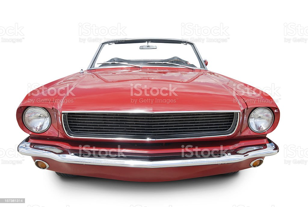 Mustang Convertible 1966 stock photo