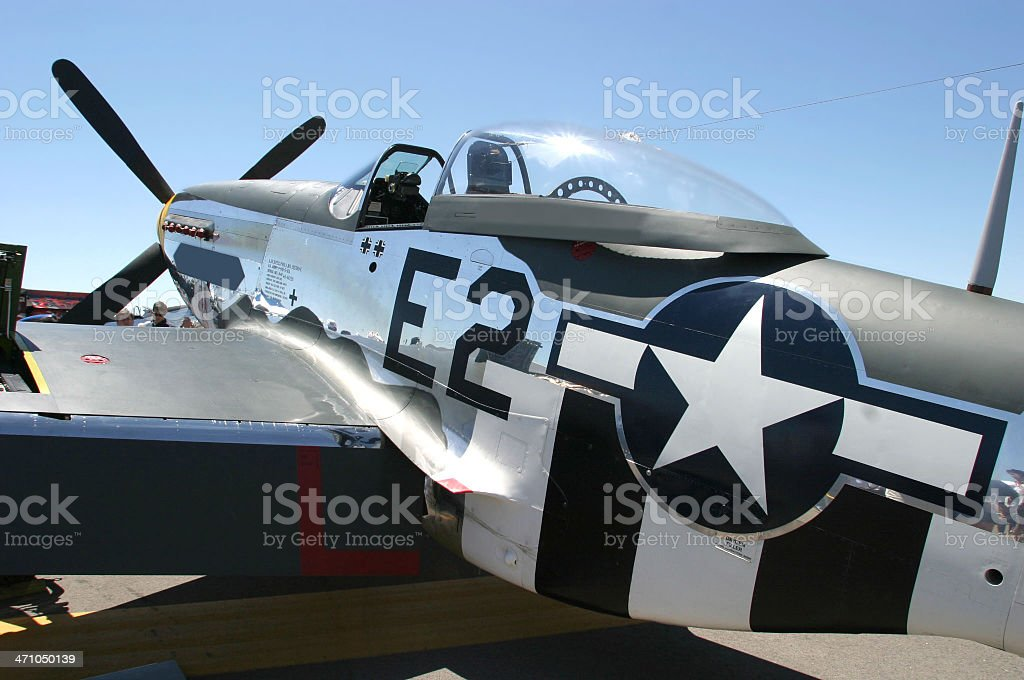 P-51 Mustang Fighter Plane stock photo