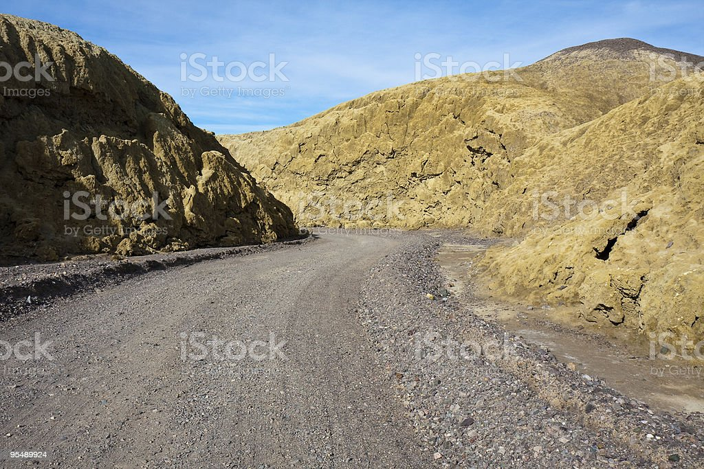 Mustard Canyon Road royalty-free stock photo